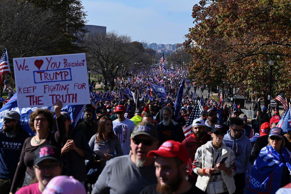 marcha a favor de Trump_ Télam