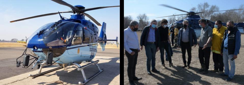 Helicoptero de la Nacion para fuego