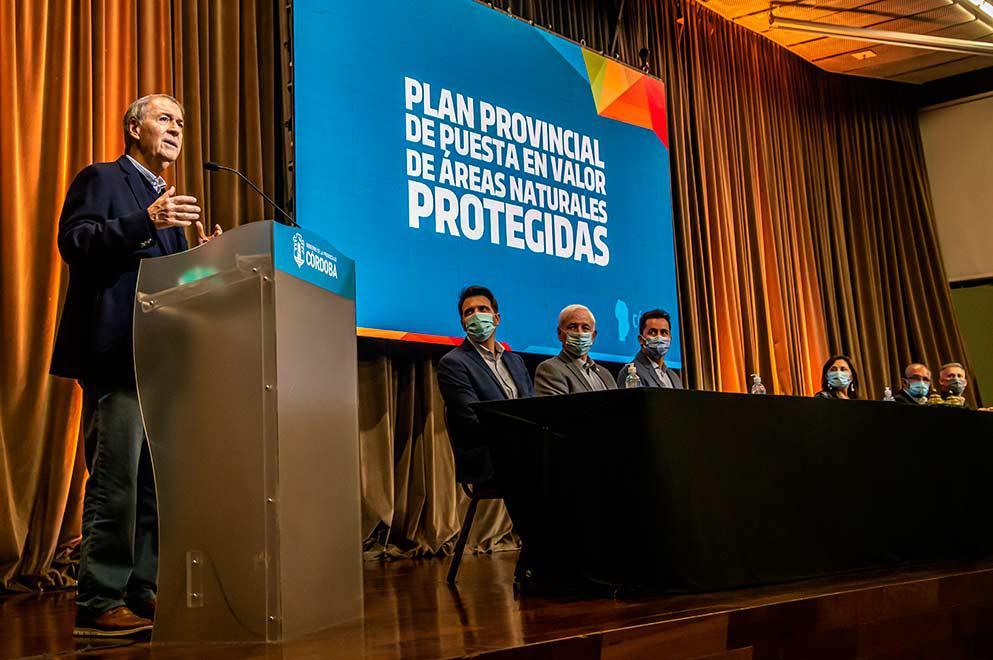 Schiaretti presentó el Plan de Puesta en Valor de las Áreas Naturales Protegidas de Córdoba