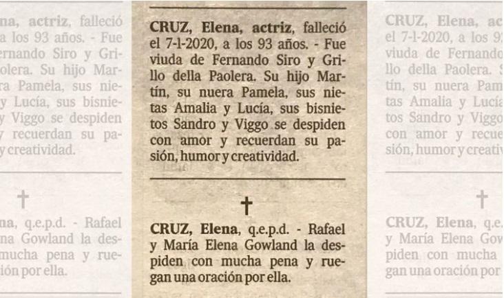 Actriz Ekena Cruz QEPD